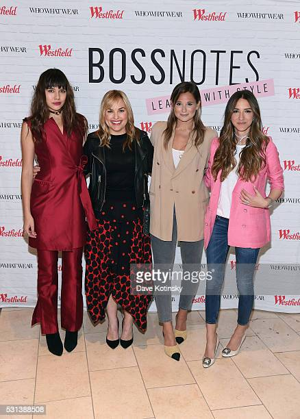 Natalie Suarez Hillary Kerr Danielle Bernstein and Arielle Charnas attend the Westfield x Who What Wear Presents Boss Notes at Westfield Garden State...