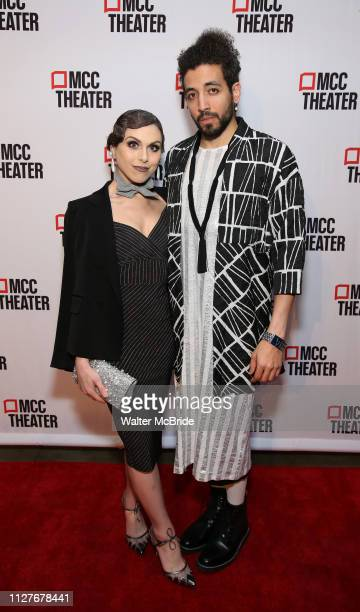 Natalie Walker and Heath Saunders attend the opening night performance after party for the MCC Theater's 'Alice By Heart' at Kenneth Cole's The...