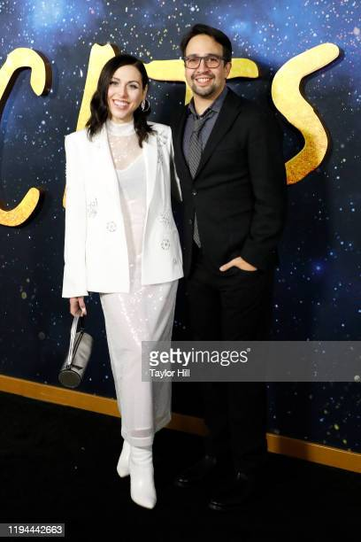 Natalie Walker and LinManuel Miranda attend the world premiere of Cats at Alice Tully Hall Lincoln Center on December 16 2019 in New York City