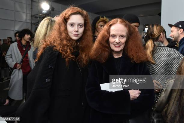 Natalie Westling and Grace Coddington attend the Raf Simons show during NYFW Men's on February 1 2017 in New York City
