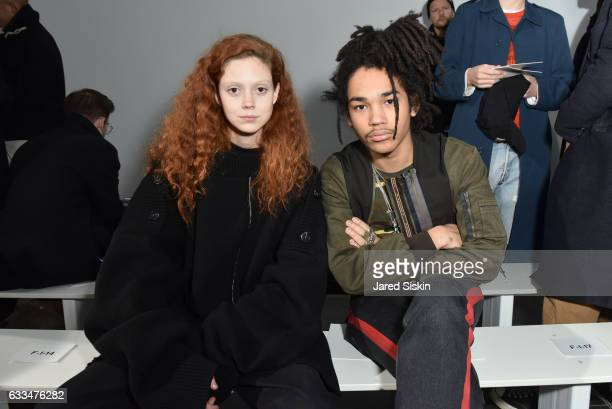 Natalie Westling and Luka Sabbat attend the Raf Simons show during NYFW Men's on February 1 2017 in New York City