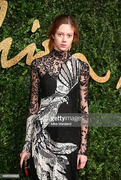 Natalie Westling attends the British Fashion Awards 2015 at London Coliseum on November 23 2015 in London England