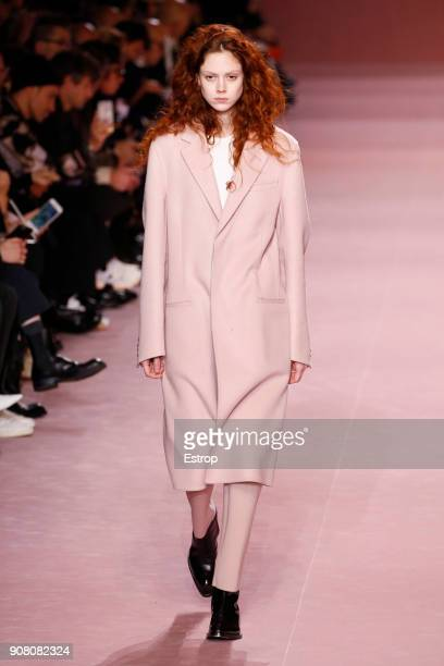Natalie Westling during the Berluti Menswear Fall/Winter 20182019 show as part of Paris Fashion Week on January 19 2018 in Paris France