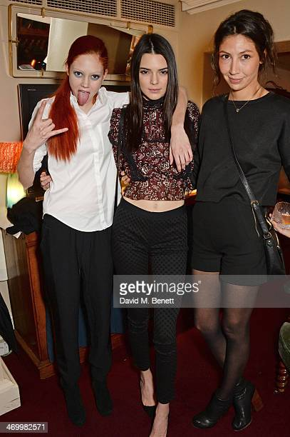 Natalie Westling Kendall Jenner and guest attend the launch of LOVE special editions at George on February 17 2014 in London England