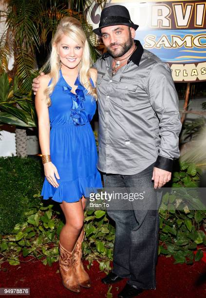 Natalie White and Russell Hantz attend Survivor Samoa Season 19 Finale at CBS Studios on December 20 2009 in Los Angeles California