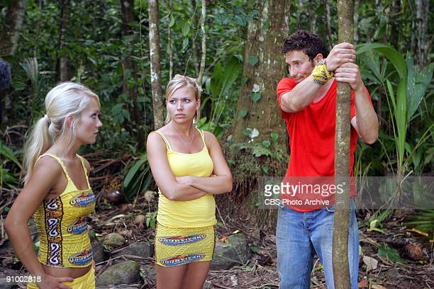 Natalie White Ashley Trainer and Mick Trimming during the first episode of SURVIVOR SAMOA premieres Thursday Sept 17 on the CBS Television Network