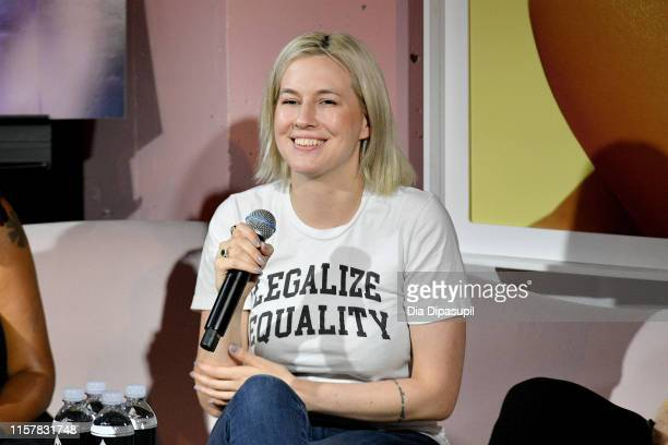 Natalie White speaks at The Art of Sexuality Event at Playboy Playhouse on June 23 2019 in New York City