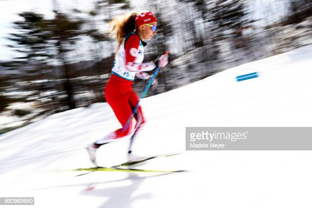 Natalie Wilkie of Canada competes in the Women's 75 km Standing Classic at Alpensia Biathlon Centre on Day 8 of the PyeongChang 2018 Paralympic Games...