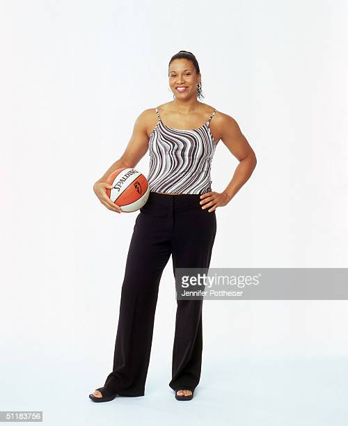 Natalie Williams of the Indiana Fever poses for a WNBA Portrait at Westin Hotel on August 4 2004 in New York New York NOTE TO USER User expressly...