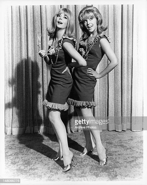Natalie Wood and Arlene Golonka in publicity portrait for the film 'Penelope' 1966