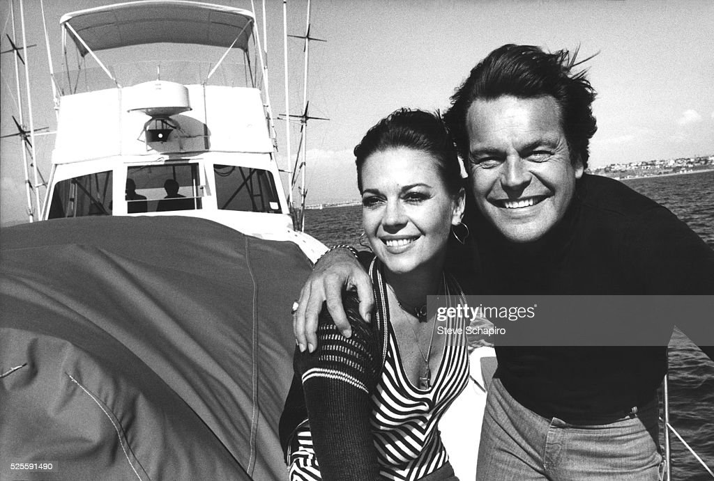 Natalie Wood and Robert Wagner on their yacht, 10/8/76