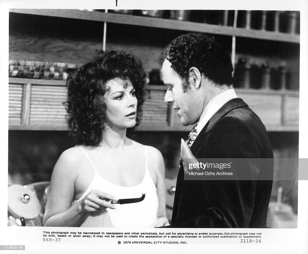 Natalie Wood is not amused with Bob Dishy makes a move on her in a scene from the film 'The Last Married Couple in America', 1980.