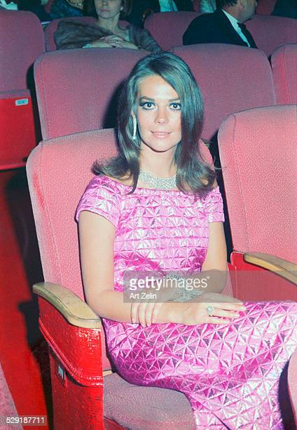 Natalie Wood seated in a theater for a premiere circa 1970 New York