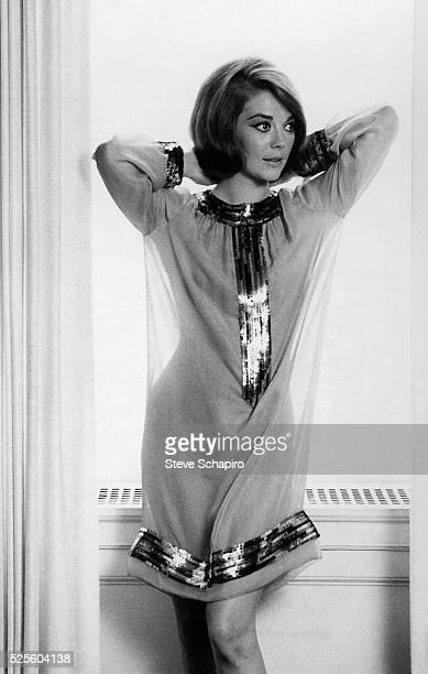 Natalie Wood wearing a dress by Arnold Scaasi