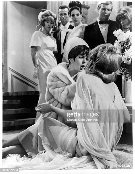 Natalie Wood yells at Norma Crane in a scene from the film 'Penelope' 1966