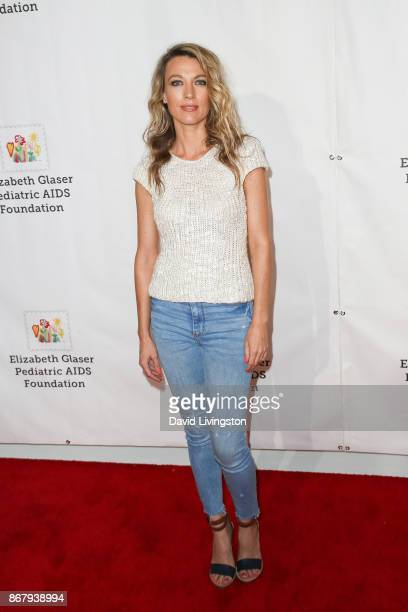 Natalie Zea attends the Elizabeth Glaser Pediatric AIDS Foundation's 28th Annual A Time For Heroes Family Festival at Smashbox Studios on October 29...