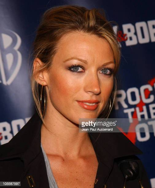 Natalie Zea during The WB Network's Jack and Bobby Rock the Vote Party Arrivals at Warner Bros Studios in Burbank California United States