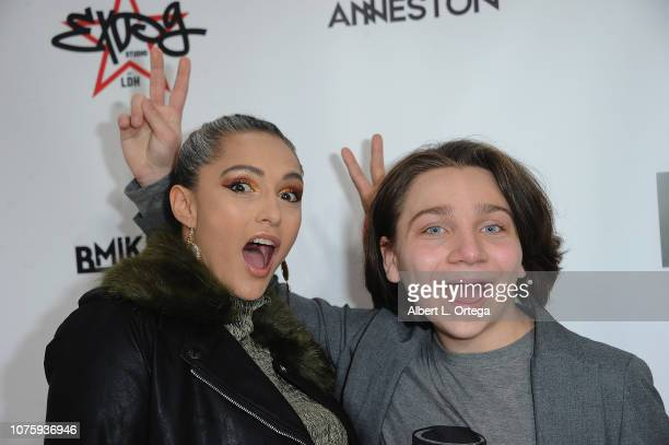 Nataliya Joy Prieto and Bryson Robinson arrive for The Party Scene Hosts The Meetup held at Starwest Studios on December 29 2018 in Burbank California