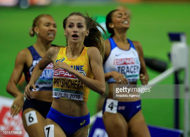 Nataliya Pryshchepa of Ukraine competes in the Women's 800m final during the 2018 European Athletics Championships in Berlin Germany on August 10...