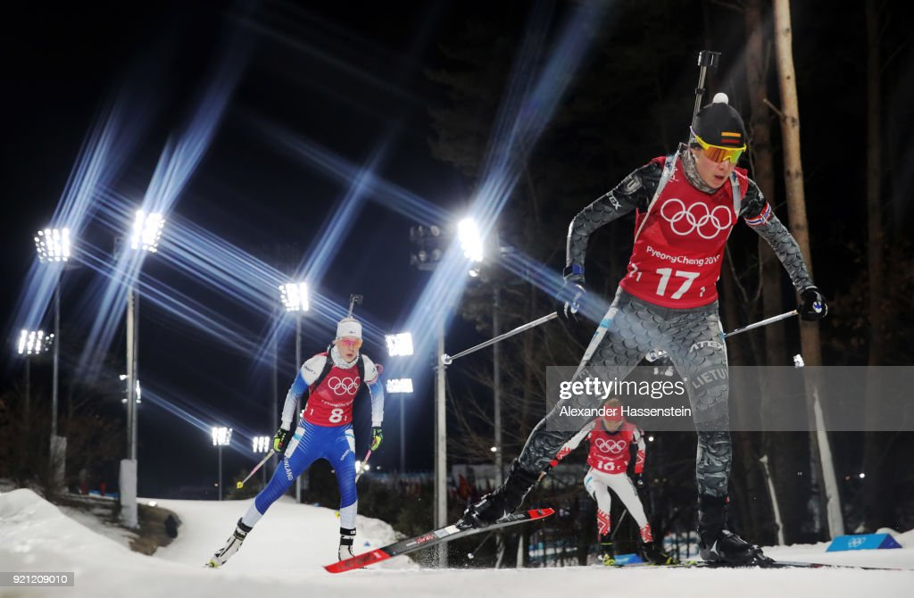 KOR: Biathlon - Winter Olympics Day 11