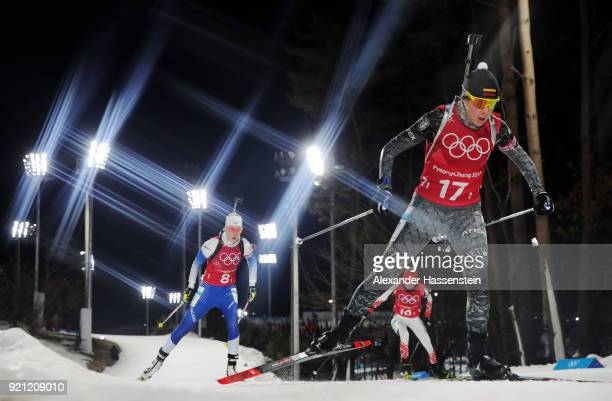 Natalja Kocergina of Lithuania competes during the Biathlon 2x6km Women 2x75km Men Mixed Relay on day 11 of the PyeongChang 2018 Winter Olympic Games...