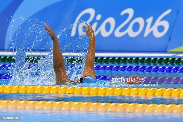 Natallia of BELARUS competes in the WOMEN'S 200M IM SM5 HEAT on day 8 of the Rio 2016 Paralympic Games at Olympic Aquatics Stadium on September 15...
