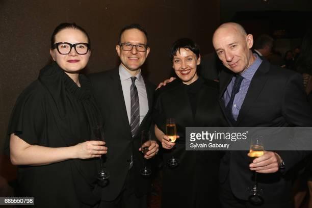 Natallia Pilipenka David Bott Shelley Fox and Ross Tibbles attend 2017 Vilcek Prizes Gala at Mandarin Oriental Hotel on April 6 2017 in New York City