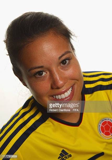 Nataly Arias of Colombia during the FIFA portrait session on June 25 2011 in Cologne Germany