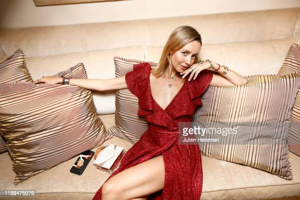 Nataly Osmann attends the Schiaparelli Cocktail to celebrate Daniel Roseberry first Haute Couture Collection as part of Paris Fashion Week on July 01...