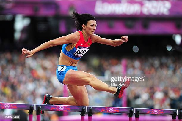 Natalya Antyukh of Russia competes in the Women's 400m Hurdles Heat on Day 9 of the London 2012 Olympic Games at the Olympic Stadium on August 5 2012...