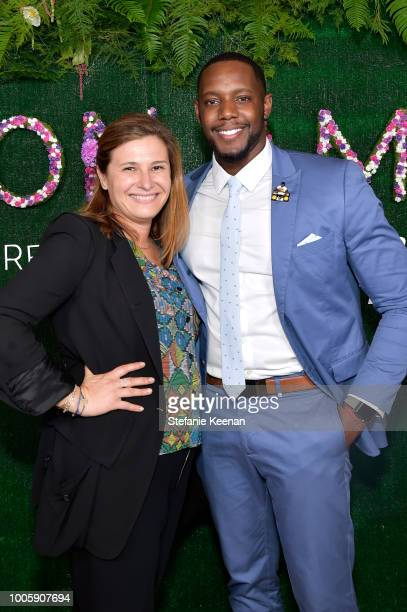 Natalya Hudis and Barry White attend Adina Reyter Friendship Bracelet Launch at Soho House on July 26 2018 in West Hollywood California