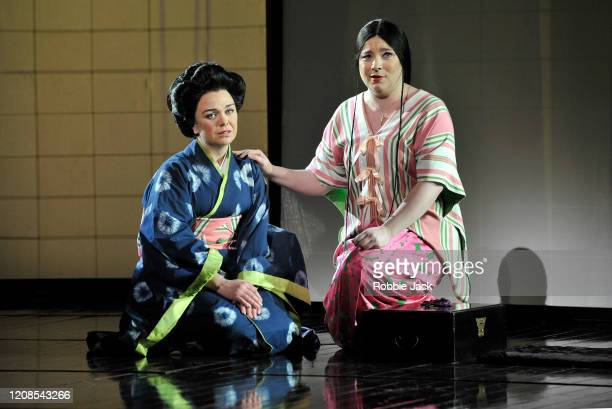 Natalya Romaniw as CioCio San and Stephanie Windsor as Suzuki in the English National Opera's production of Giacomo Puccini's Madam Butterfly at the...