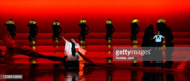 Natalya Romaniw as CioCio San with artists of the company in the English National Opera's production of Giacomo Puccini's Madam Butterfly at the...