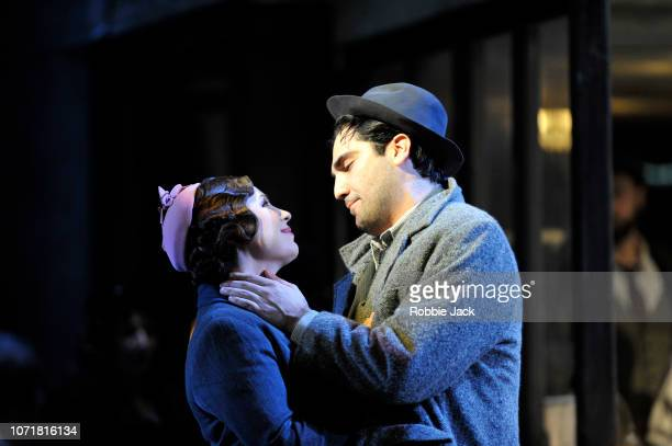 Natalya Romaniw as Mimi and Jonathan Tetelman as Rodolfo in English National Opera's production of Giacomo Puccini's La boheme directed by Jonathan...