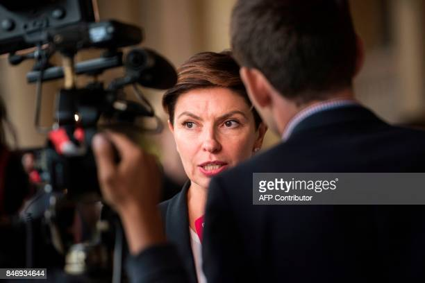 Natalya Sindeyeva CEO of the Russian TV channel Doshd TV gives an interview at the international media conference M100 Sanssouci Colloquium in...
