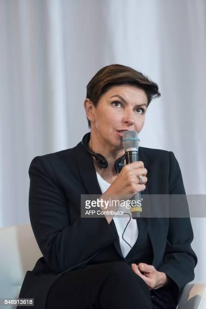 Natalya Sindeyeva CEO of the Russian TV channel Doshd TV speaks during the international media conference M100 Sanssouci Colloquium in Potsdam on...