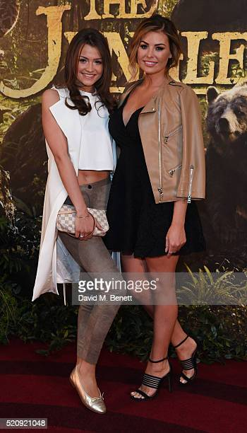 Natalya Wright and Jessica wright arrive for the European Premiere of 'The Jungle Book' at BFI IMAX on April 13 2016 in London England