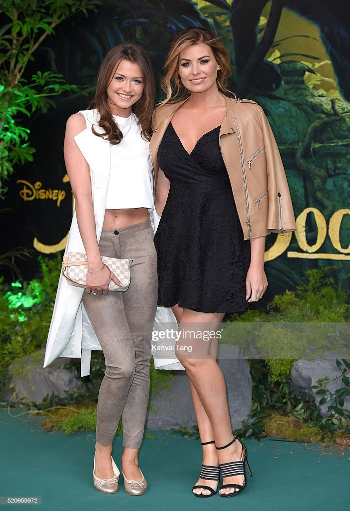 Natalya Wright and Jessica Wright arrive for the European premiere of 'The Jungle Book' at BFI IMAX on April 13, 2016 in London, England.