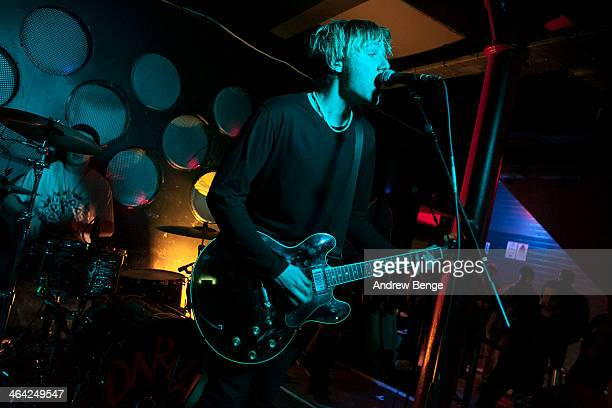 Natan Day and Jack Bentham of Darlia perform on stage at Sound Control on January 21 2014 in Manchester United Kingdom
