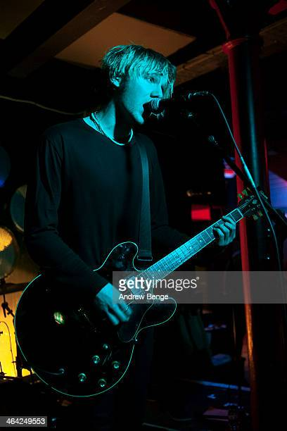 Natan Day of Darlia performs on stage at Sound Control on January 21 2014 in Manchester United Kingdom