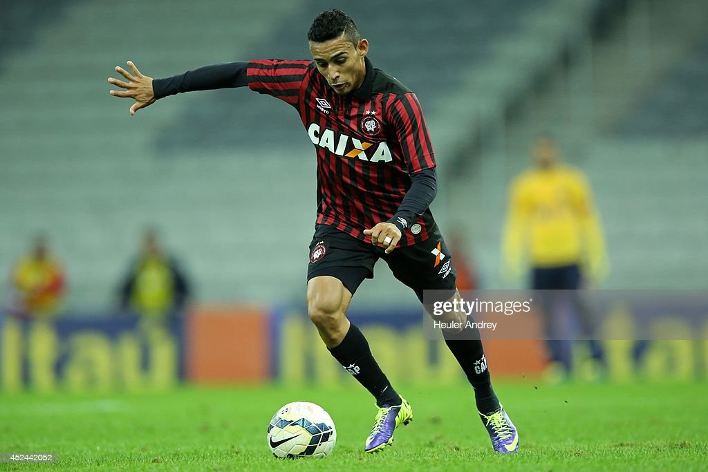 Natanael of Atletico-PR during the match between Atletico-PR and Criciuma for the Brazilian Series A 2014 at Arena da Baixada on July 20, 2014 in Curitiba, Brazil.