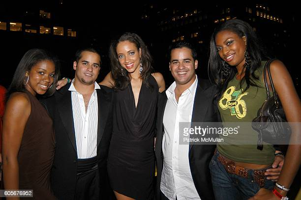Natanya Bravo Nabeel Ansari Cindy Wright Miss Jamaica Fifal Ansari and Tienepre Oki Miss Nigeria attend Miss Universe Post Pageant VIP Party hosted...