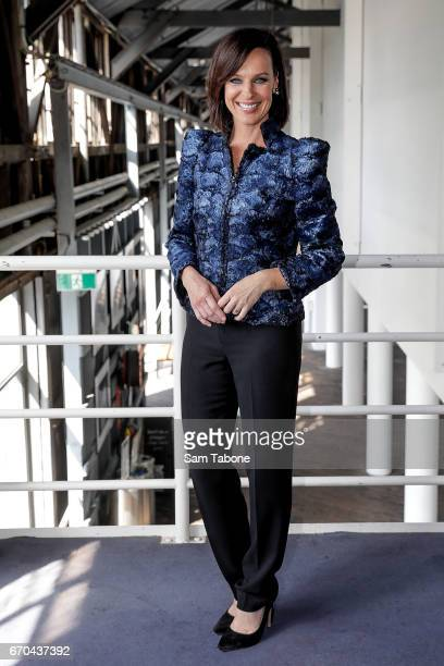Natarsha Belling arrives ahead of the Carla Zampatti Spring Summer 2017 Show at Sydney Theatre Company on April 20 2017 in Sydney Australia
