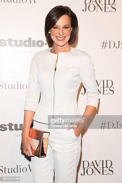 Natarsha Belling arrives ahead of the StudioW launch at David Jones Elizabeth Street Store on August 20 2015 in Sydney Australia