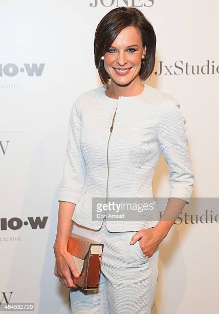 Natarsha Belling arrives ahead of the StudioW launch at David Jones Elizabeth Street Store on August 20 2015 in Sydney Australia