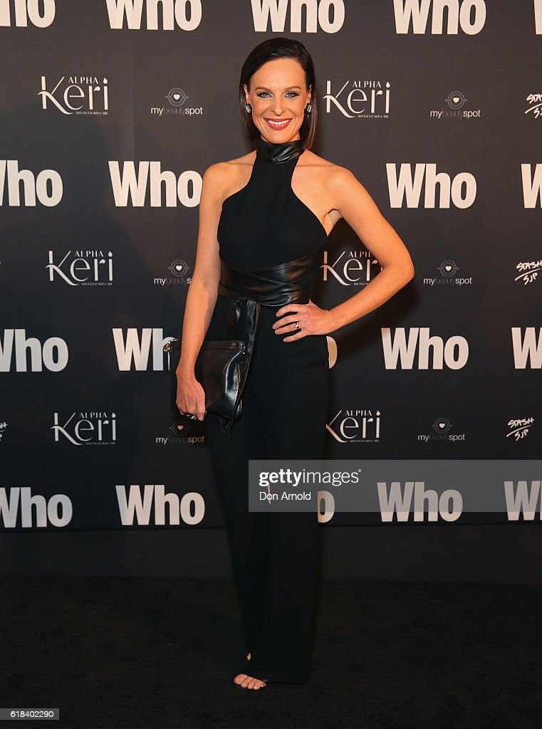 Natarsha Belling arrives ahead of the WHO Sexiest People Party on October 26, 2016 in Sydney, Australia.