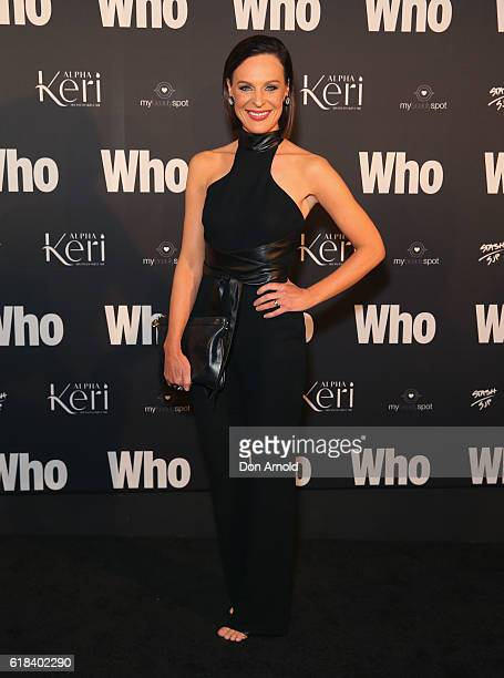 Natarsha Belling arrives ahead of the WHO Sexiest People Party on October 26 2016 in Sydney Australia