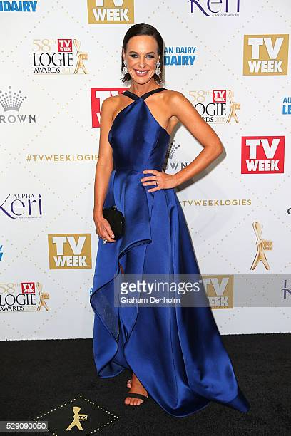 Natarsha Belling arrives at the 58th Annual Logie Awards at Crown Palladium on May 8 2016 in Melbourne Australia