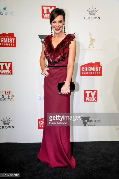Natarsha Belling arrives at the 59th Annual Logie Awards at Crown Palladium on April 23 2017 in Melbourne Australia