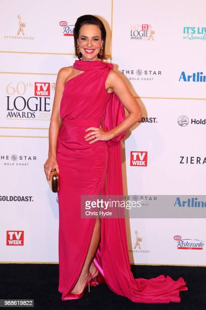 Natarsha Belling arrives at the 60th Annual Logie Awards at The Star Gold Coast on July 1 2018 in Gold Coast Australia